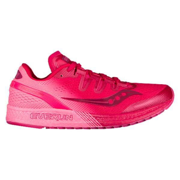 サッカニー レディース ランニング・ウォーキング シューズ・靴【Saucony Freedom ISO】Berry/Pink
