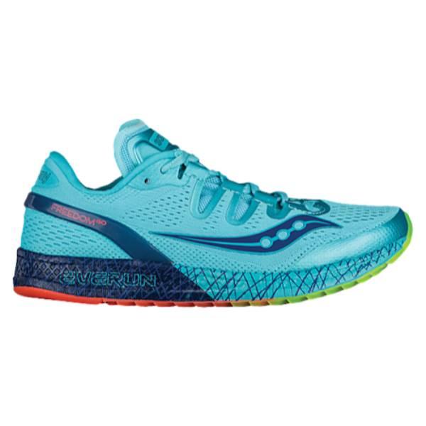 サッカニー レディース ランニング・ウォーキング シューズ・靴【Saucony Freedom ISO】Blue/Citron