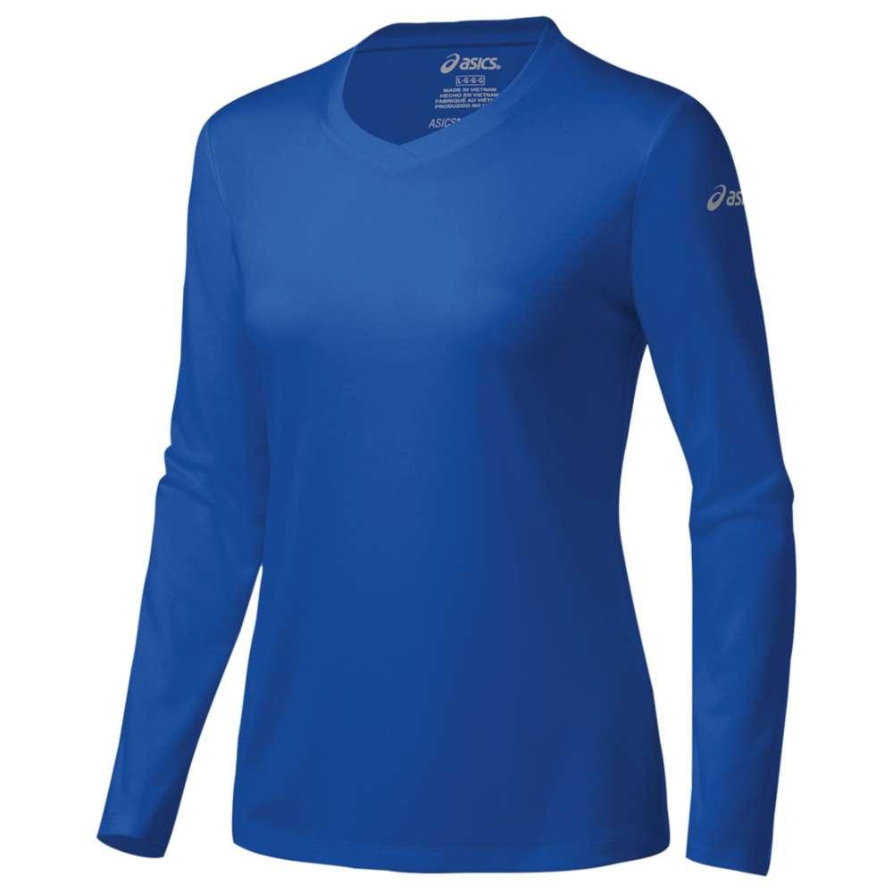 アシックス レディース トップス Tシャツ【ASICS Ready-Set Long Sleeve T-Shirt】New Blue