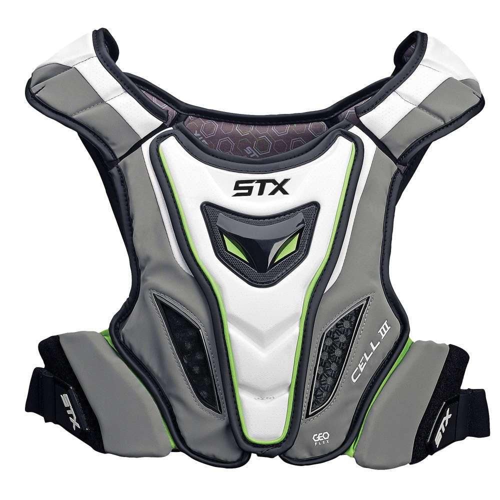 エスティーエックス メンズ ラクロス プロテクター【STX Cell III Shoulder Pad Liner】White