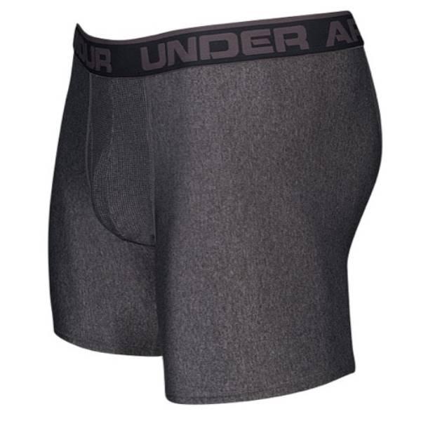 """アンダーアーマー メンズ インナー ボクサーパンツ【Under Armour The Original 6"""" Boxerjock】Carbon Heather/Charcoal"""