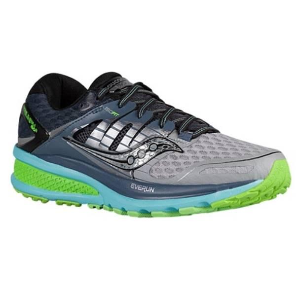 サッカニー レディース ランニング・ウォーキング シューズ・靴【Saucony Triumph ISO 2】Grey/Blue/Slime
