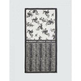 バーバリー Burberry レディース マフラー・スカーフ・ストール 【Angel Leopard Silk Scarf】Black/White