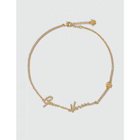 ヴェルサーチ Versace レディース ネックレス ジュエリー・アクセサリー【GV Signature Necklace】Gold