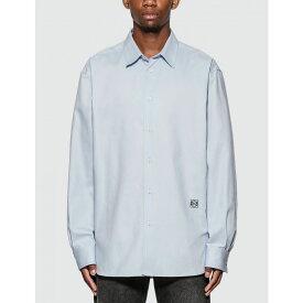ロエベ Loewe メンズ シャツ トップス【anagram embroidered oversize shirt】Sky Blue