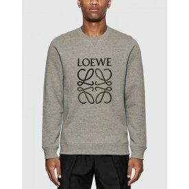 ロエベ Loewe メンズ スウェット・トレーナー トップス【anagram sweatshirt】Grey Melange