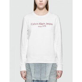 カルバンクライン Calvin Klein Jeans レディース 長袖Tシャツ トップス【Halia L/S T-Shirt】White