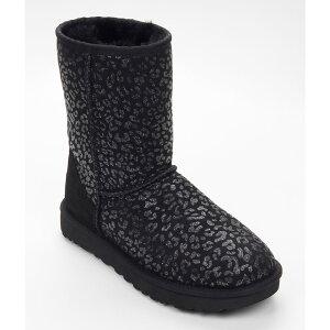 アグ UGG レディース ブーツ スノーブーツ シューズ・靴【Classic Short Snow Leopard Boots】Black