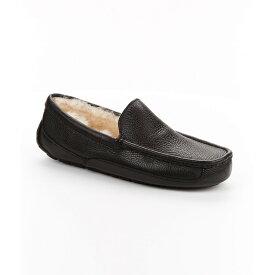 アグ メンズ シューズ・靴 スリッパ【UGG Ascot Leather Slippers】Black