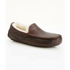 アグ メンズ シューズ・靴 スリッパ【UGG Ascot Leather Slippers】China Tea