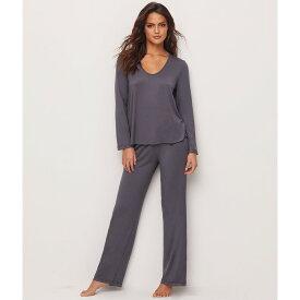 ベアフットドリームス レディース インナー・下着 パジャマ・上下セット【Barefoot Dreams Luxe Milk Jersey Modal Pajama Set】Graphite