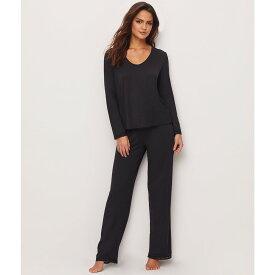ベアフットドリームス レディース インナー・下着 パジャマ・上下セット【Barefoot Dreams Luxe Milk Jersey Modal Pajama Set】Black