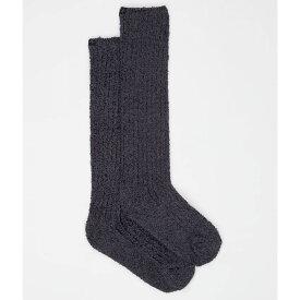ベアフットドリームス Barefoot Dreams レディース ソックス インナー・下着【Cozychic Ribbed Plush Socks】Heathered Carbon