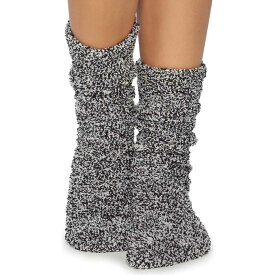 ベアフットドリームス Barefoot Dreams レディース ソックス インナー・下着【CozyChic Heathered Plush Socks】Black/White