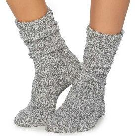 ベアフットドリームス Barefoot Dreams レディース ソックス インナー・下着【CozyChic Heathered Plush Socks】Graphite