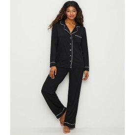 ベアフットドリームス Barefoot Dreams レディース パジャマ・上下セット インナー・下着【Luxe Milk Jersey Piped Modal Pajama Set】Black/Pearl
