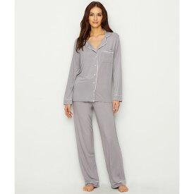 ベアフットドリームス Barefoot Dreams レディース パジャマ・上下セット インナー・下着【Luxe Milk Jersey Piped Modal Pajama Set】Pewter/Pearl