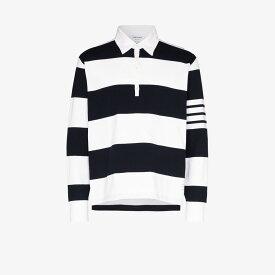 トム ブラウン Thom Browne メンズ ポロシャツ トップス【4-stripe sleeve polo shirt】blue