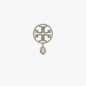 トリー バーチ Tory Burch レディース ブローチ ジュエリー・アクセサリー【silver tone Miller pearl brooch】silver
