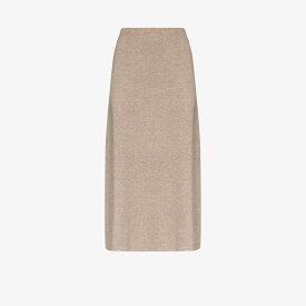 ルカシャ Le Kasha レディース ひざ丈スカート スカート【Melrose cashmere knit midi skirt】brown