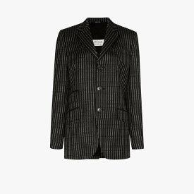 メゾン マルジェラ Maison Margiela レディース スーツ・ジャケット アウター【logo pinstripe single-breasted blazer】black