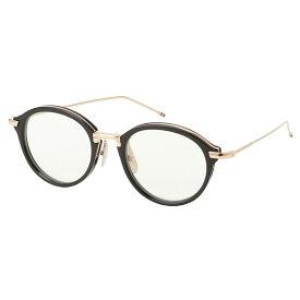 【即納】トム ブラウン Thom Browne メンズ メガネ・サングラス【Glasses TB 011 a】Black/White Gold ボストン 眼鏡