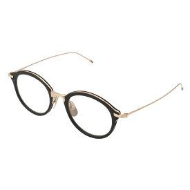【残り一点限り!】【即納】トム ブラウン Thom Browne メンズ メガネ・サングラス TBX 908 眼鏡 Black/White Gold ボストン ラウンドフレーム オーバル tb 908