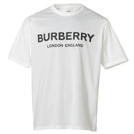 【即納】バーバリー Burberry メンズ トップス Tシャツ【Logo Print T-Shirt 8026017】White ロゴプリント クルーネック