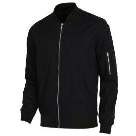 【即納】エイソス ASOS メンズ アウター ジャケット【Bomber Jacket With Sleeve Zip】Navy