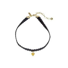 【即納】ヴァネッサ ムーニー Vanessa Mooney レディース ジュエリー・アクセサリー ネックレス【Black Lace Choker with Gold Heart Charm Necklace】Gold