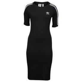 【即納】アディダス adidas Originals レディース ワンピース・ドレス ワンピース【Adicolor 3-Stripe Dress】Black/White