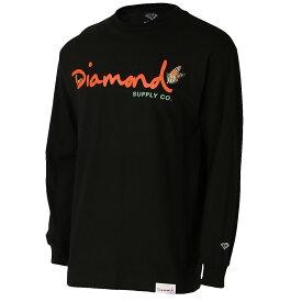 【即納】ダイアモンドサプライ Diamond Supply Co メンズ トップス 長袖Tシャツ【PARADISE OG SCRIPT L/S TEE】BLACK