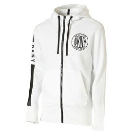 【即納】ダナ キャラン ニューヨーク DKNY メンズ トップス パーカー【L/S LOGO ZIP UP HOODIE】100STANDARD WHITE