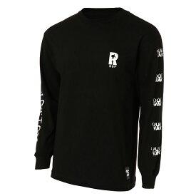 【即納】ハフ HUF メンズ トップス 長袖Tシャツ【REAL NON-FICTION L/S TEE】BLACK