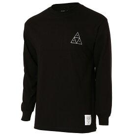 【即納】ハフ HUF メンズ トップス 長袖Tシャツ【BUDWEISER TRIANGLE L/S TEE】BLACK