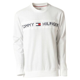 【即納】トミー ヒルフィガー Tommy Hilfiger メンズ トップス 長袖Tシャツ【MODERN ESSENTIALS CREW NECK 】WHITE ロンT ロングT ロゴ プリント