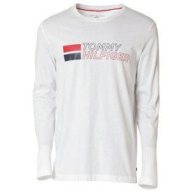 【即納】トミー ヒルフィガー Tommy Hilfiger メンズ トップス 長袖Tシャツ【GRAPHIC TEE】100 WHITE ロンT ロングT ロングスリーブ ロゴ