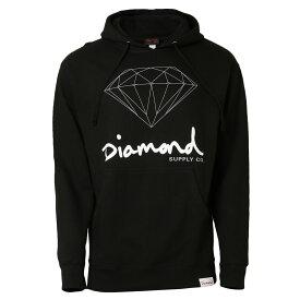 【即納】ダイアモンドサプライ Diamond Supply Co メンズ トップス パーカー【OG SIGN PULLOVER HOODIE】BLACK フーディー プルオーバー