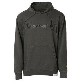 【即納】ダイアモンドサプライ Diamond Supply Co メンズ トップス パーカー【OG SCRIPT PIGMENT DYED HOODIE】BLACK フーディー プルオーバー