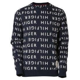 【即納】トミー ヒルフィガー Tommy Hilfiger メンズ トップス 長袖Tシャツ【LS CREW TEE】DEEP BLUE 総柄