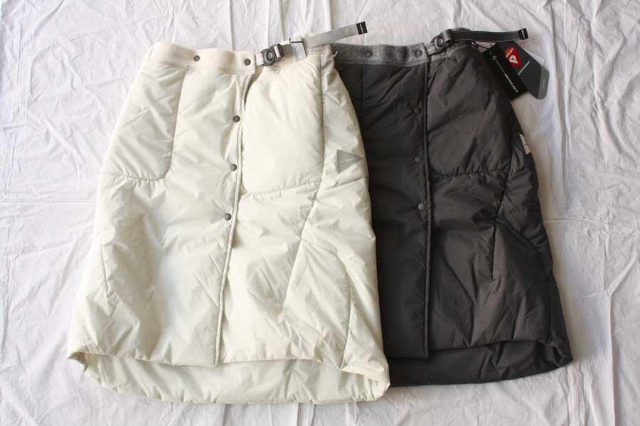 ■【送料無料】and wander アンドワンダー twill fleece skirt