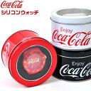 コカ・コーラ シリコン ウォッチ {コーラ 腕時計 レディース メンズ レッド ブラック ホワイト 赤 黒 白 カジュアル …