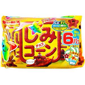 ギンビス しみチョココーン 6パック入{チョコレート チョコ 大量 お菓子 子供会 景品 駄菓子 問屋}