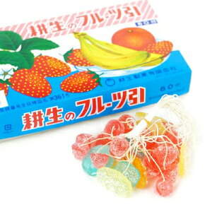 フルーツ糸引き飴 60入 {子供会 景品 お祭り 縁日}{駄菓子 問屋}