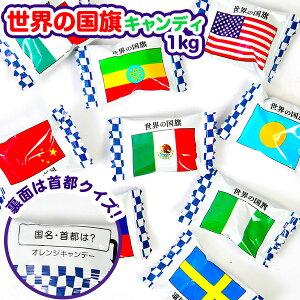 【駄菓子】 世界の国旗キャンディ 1kg(約245個装入 [19K18]106 {子供会 景品 お祭り くじ引き 縁日 お菓子}