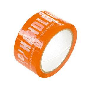 TT-PL1 パッキングテープオレンジ (1巻) [包装資材 ラッピング 袋 おしゃれ かわいい バッグ 袋][13/1210]{子供会 景品 お祭り くじ引き 縁日}