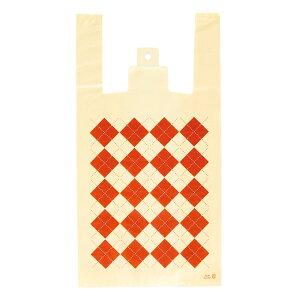 【ギフト ラッピング】 AG-M アーガイルレジバッグ-M 100枚 603[19C28] {ラッピング用品 ラッピング 袋 ラッピング袋 ビニール レジ袋 かわいい}