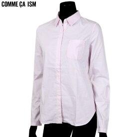 ■SALE78%OFF【COMME CA ISM】コムサイズム 比翼 ブロードシャツ(長袖) ピンク『18/5/2』080518 20.03sage【送料無料】