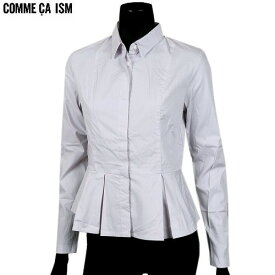 ■SALE78%OFF【COMME CA ISM】コムサイズム ぺプラムシャツ(長袖) 灰紫『18/5/2』090518 20.03sage【送料無料】