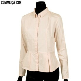 ●SALE82%OFF【COMME CA ISM】コムサイズム ぺプラムシャツ(長袖) 橙『18/5/2』090518 20.03sage【送料無料】